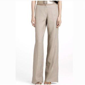 Tory Burch Monique Linen Wide Leg Pants Size 4